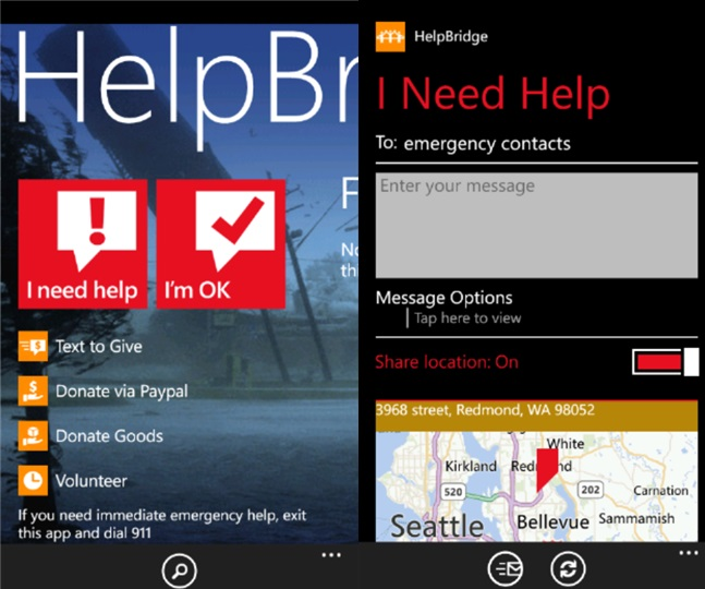 HelpBridge – O aplicatie cross-platform pentru situatii de urgenta