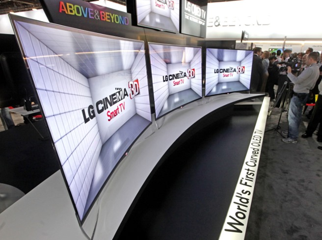 LG Curved OLED TV CES2013