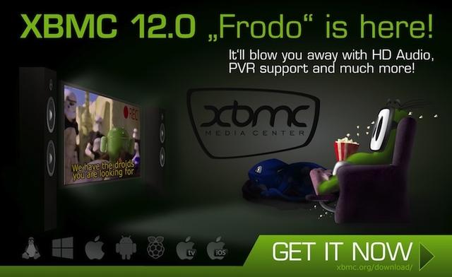 XBMC 12 Frodo vine cu suport pentru Raspberry Pi, Android, HD Audio si PVR