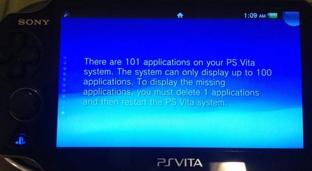 Sony PS Vita limitari