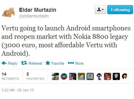 Vertu se reinventeaza prin telefoane cu Android
