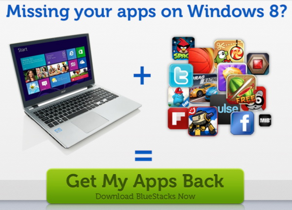 Bluestacks Windows 8 Android Apps Player