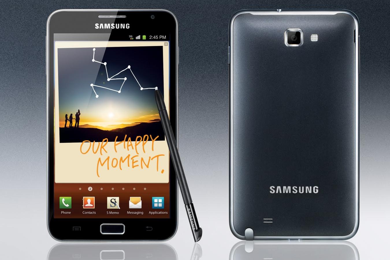 Primul Galaxy Note intra si el in rand cu lumea