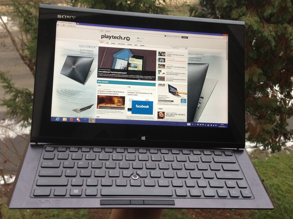 Sony Vaio Duo 11 – Un ultrabook cu veleitati de tableta [REVIEW]
