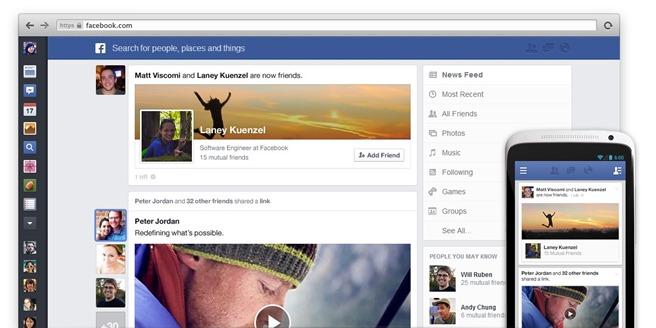 Facebook Newsfeed modernizare