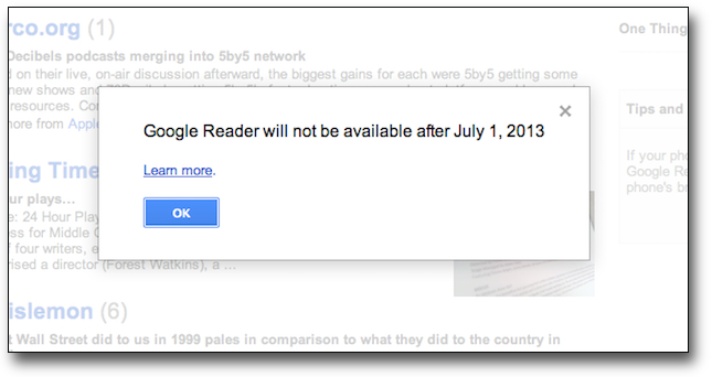 "Google Reader ""maturat"" in curatenia de primavara"