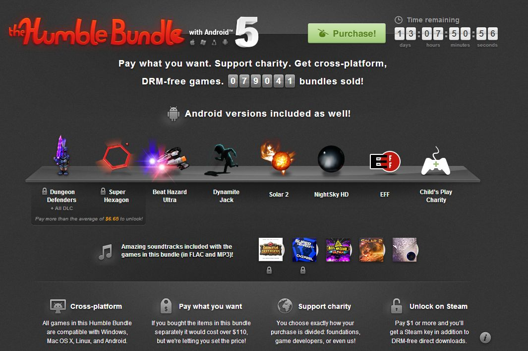 Humble Bundle with Android 5 disponibil acum