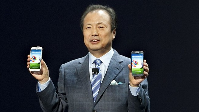 Samsung JK Shin Co-CEO anti microsoft