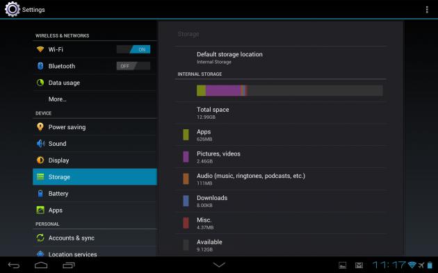Huawei MediaPad 10 FHD Folder Memorie
