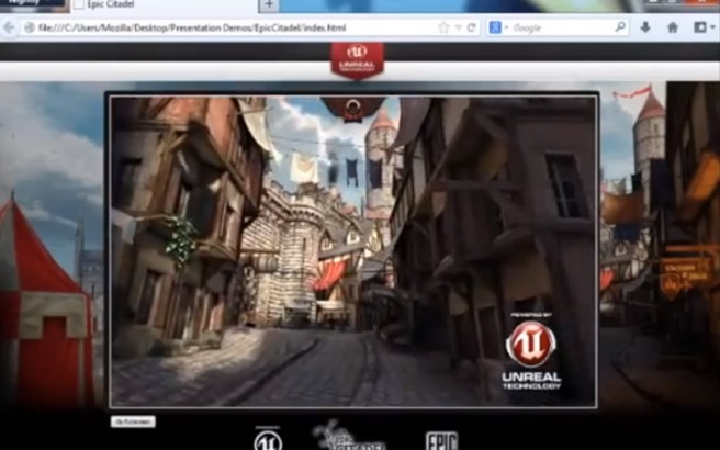 Unreal Engine 3 Citadel on Mozilla Firefox