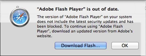 Safari te obliga la update Flash