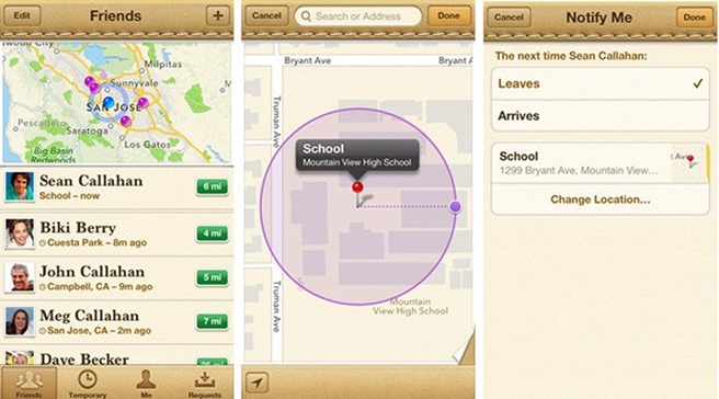 find my friends iOS 6.1
