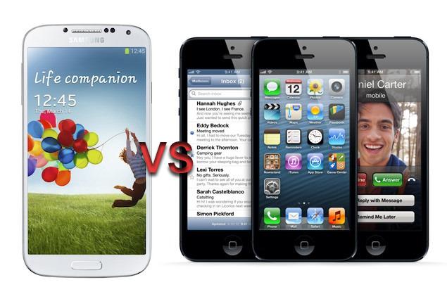 samsung galaxy S4 versu apple iPhone 5