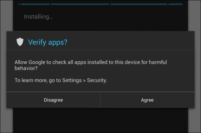 Android 4.2 verify apps