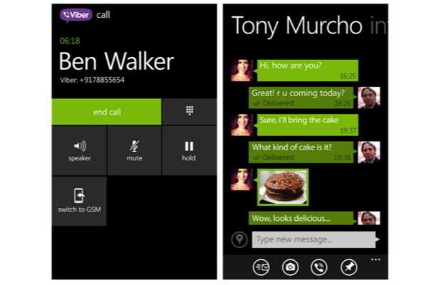Viber Windows Phone 8