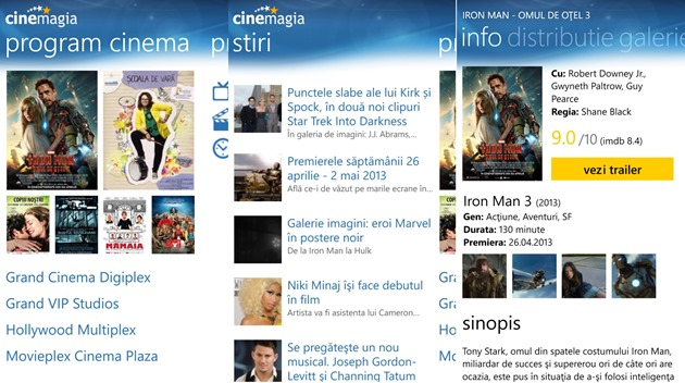 apps by microsoft wp8 Cinemagia