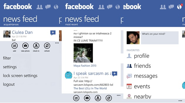 apps by microsoft wp8 Facebook