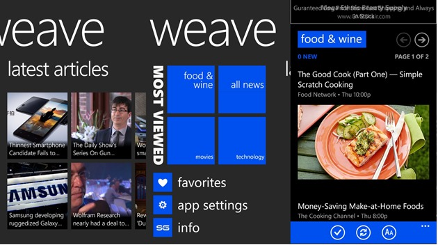 apps by microsoft wp8 Weave