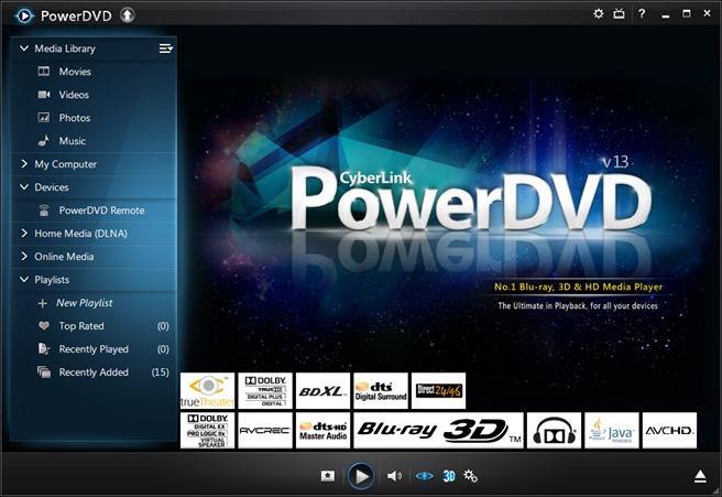 cyberlink powerdvd 13