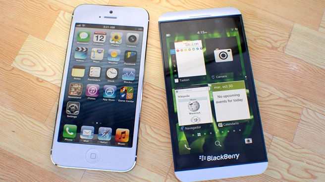 Apple iPhone 5 versus BlackBerry Z10