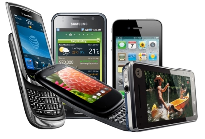 Smartphone iOS Android BlackBerry WP8 smartphone 2013