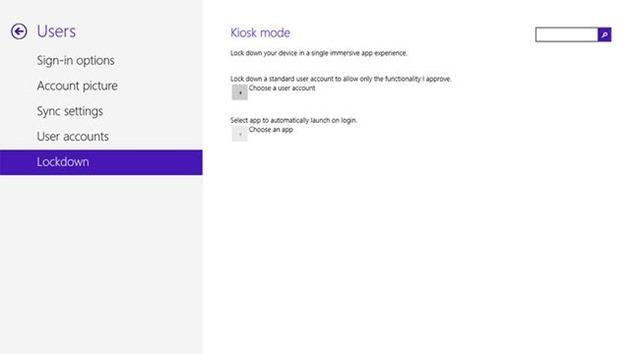 kiosk Windows 8.1 Blue update