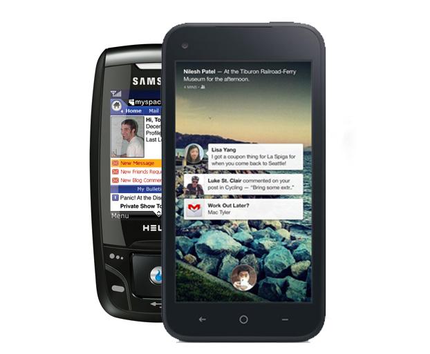 Inainte de telefonul Facebook a existat un telefon MySpace