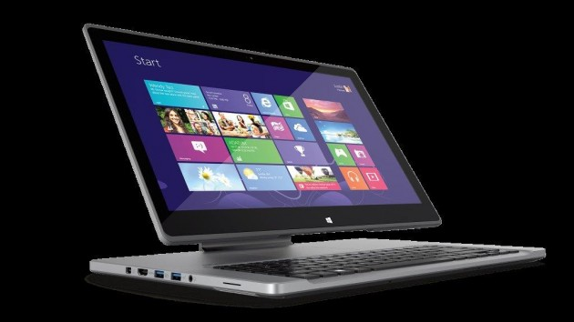 Ultrabook Acer Aspire R7 interfata