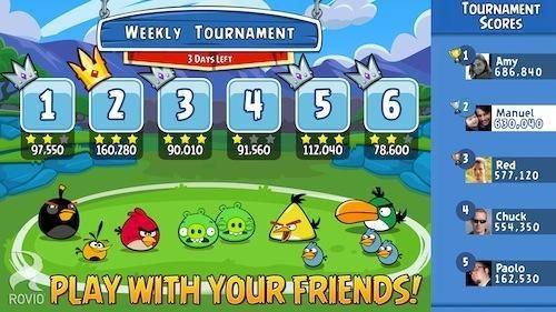 Angry Birds Friends, un nou joc gratuit ajunge pe iOS si Android
