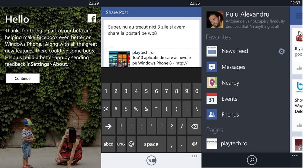 Facebook pentru WP8 devine subit asa cum trebuie