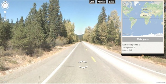 Google GeoGuessr street view game