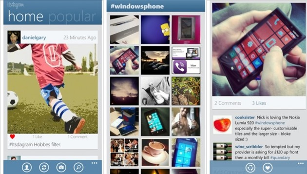 Itsdagram Finall Screens Instagram Windows Phone wp8