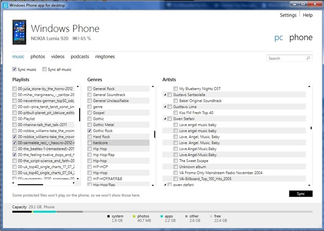 Windows Phone app desktop