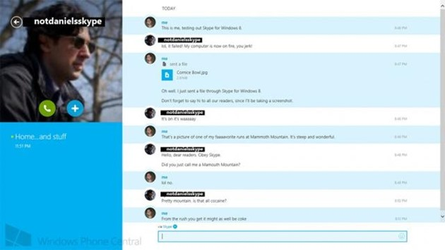 skype wp8 Windows securitate