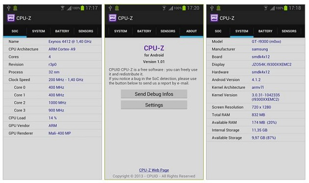 CPU-Z Android beta