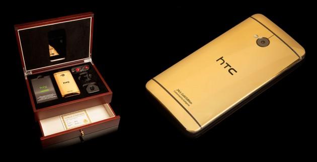 HTC One din aur si platina