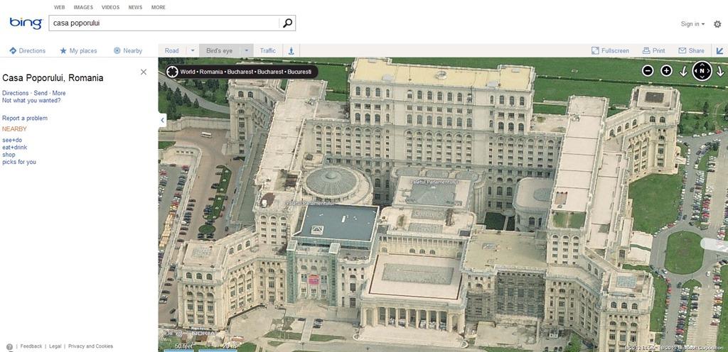 Romania arata mai bine dupa ultimul update la Bing Maps