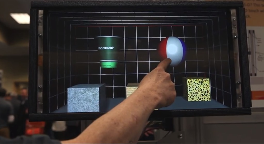 Microsoft Research demonstreaza un touchscreen capabil de feedback [VIDEO]