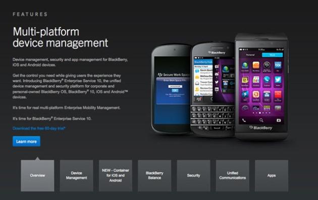 blackberry secure ios android multi-platform