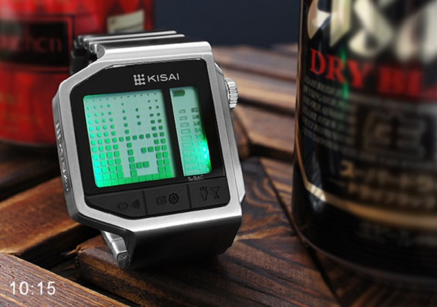 Etilotest Kisai intoxicated watch led