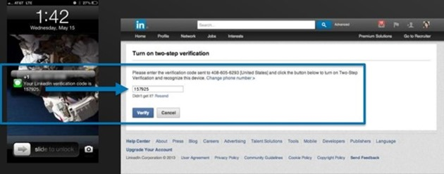 linkedin two factor autentificare 2 pasi
