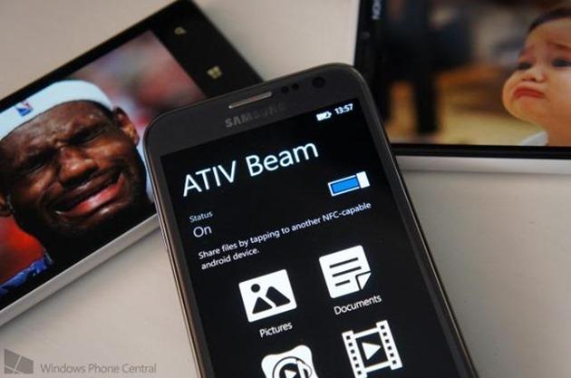 samsung WP8 Android ativ beam