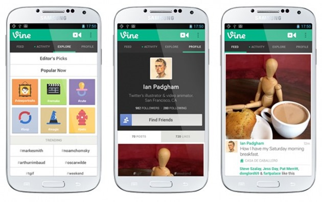 vine update on android