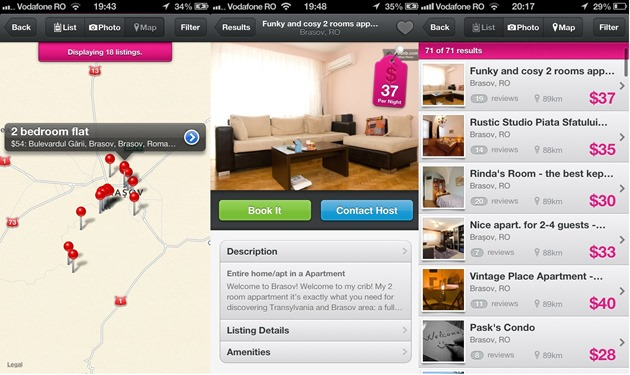 Airbnb iOS Android Windows Phone