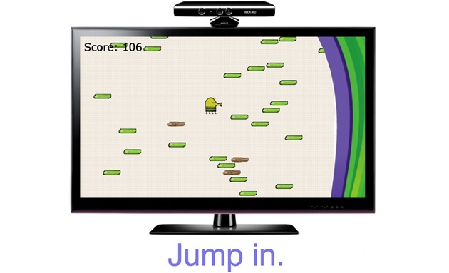 Doodle jump microsoft xbox 360 Kinect