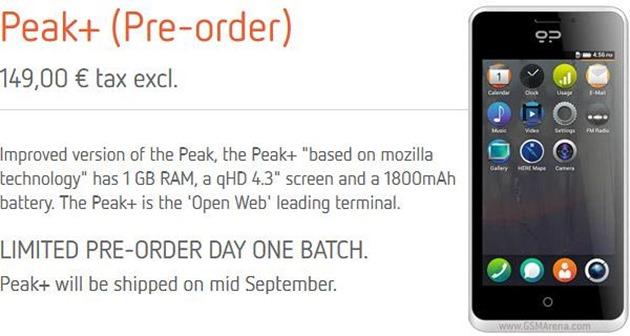 Geeeksphone peak  Firefox mobile so