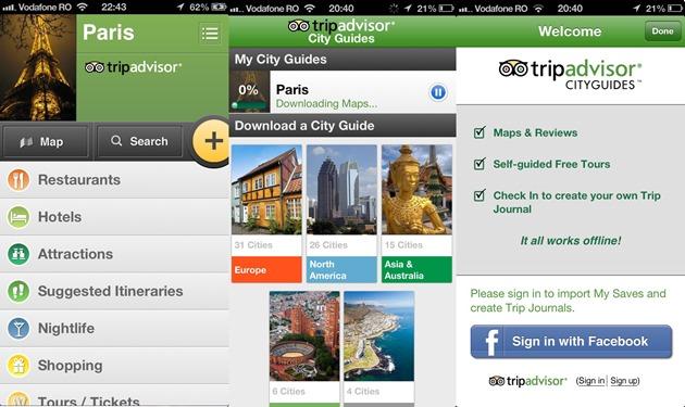 Tripadvisor city guides offline iOS android windows phone