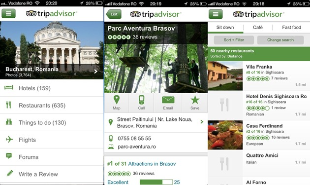Tripadvisor iOS android windows phone