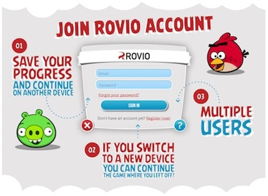 angry birds account cont rovio-account
