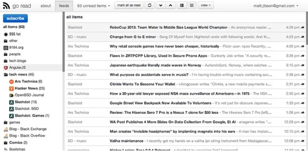 go read google reader alternativa